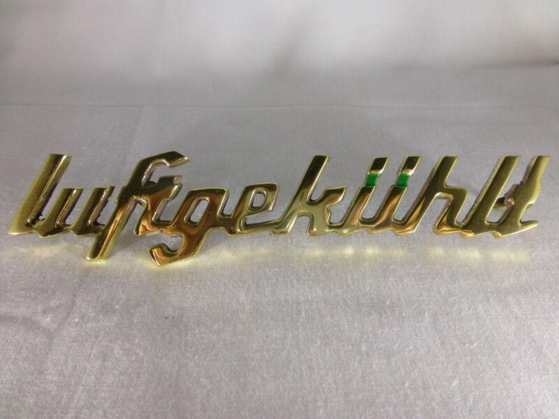 """Deutz Schriftzug Emblem """"luftgekühlt"""", D-Serie, D15, D25, D30, D40, D50, D80 Foto 1"""