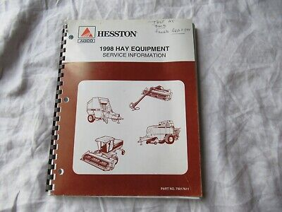 1998 Agco Hesston Hay Equipment Service Information Manual Baler Windrower
