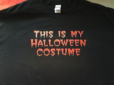 t-shirt This is MY HALLOWEEN bloody drip costume easy custom made order  - Halloween Costume Made Easy