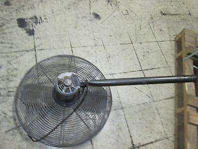 Dayton Exhaust Fan 24 Fan W Mount Motor 6k405c 12hp 115v 1ph 6.3a Used