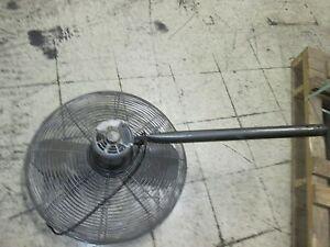 Dayton exhaust fan 24 fan w mount motor 6k405c 1 2hp 115v for Industrial exhaust fan motor