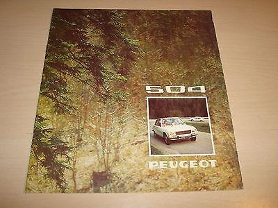 PEUGEOT 504 SALOON L, GL, TI, ZF ALEMANA TEXTO FOLLETO DE VENTAS -FECHA DE 1974