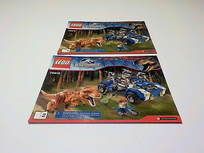 LEGO Jurassic World 75918 Instruction Manuals only