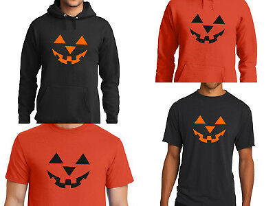 Halloween Costume Shirt Pumpkin Jack O Lantern Orange or Black Face on - Pumpkin Face Halloween Costume