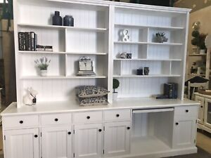 Hampton's bookcase/wall unit and desk