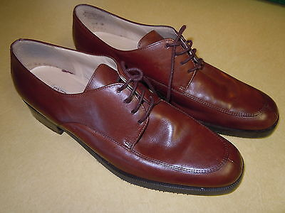 """"""" ENZO ANGIOLINI """" FINE LEATHER DRESS OXFORD SHOES - BROWN - CLEAN - SIZE 10 M"""
