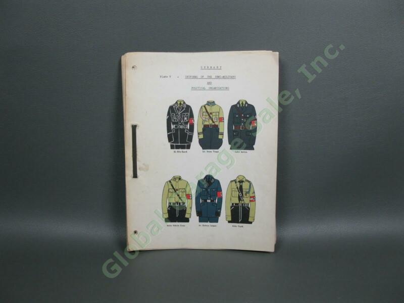 Vintage WWII German Military Political Uniforms Flags Medals Book Plates Germany