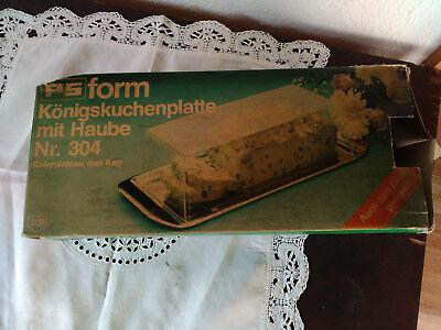 DDR;Königskuchenplatte mit Haube;Nr. 304;OVP;PS Form