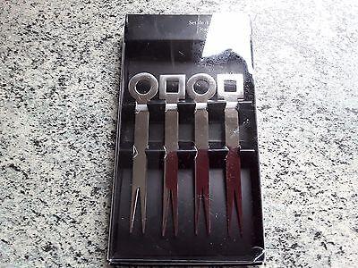 Jean dubost set 4  tapas picks stainless steel