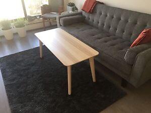 New IKEA Lisabo Birch Wood Modern Coffee Table