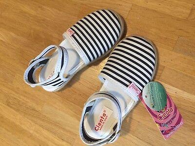 Kinder Mädchen Cienta Espadrilles Sandalen blau weiß gestreift in Gr.25 NEU ()