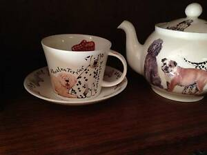 "Matching ""ROY KIRKHAM"" TEAPOT & Breakfast Cup & Saucer. DOGS. Croydon Burwood Area Preview"