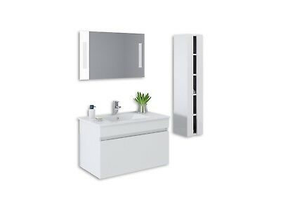 "Deluxe 32"" Bathroom Vanity Cabinet Single Basin Ceramic Sink with Faucet, Mirror"
