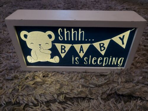 New View Gifts Baby Sleeping Goodnight Little One Lighted Display Light 10x5  - $19.99