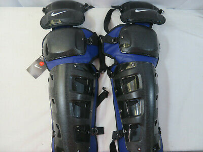 ONE PAIR RAWLINGS Softball Baseball Catcher/'s Gear Umpire Shin Guards Good Cond.