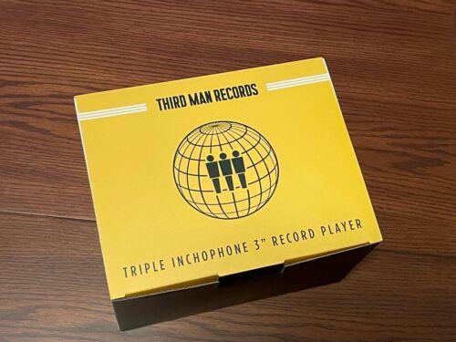 "New RSD 2019 Third Man Records Triple Inchophone 3"" Mini Record Player Turntable"