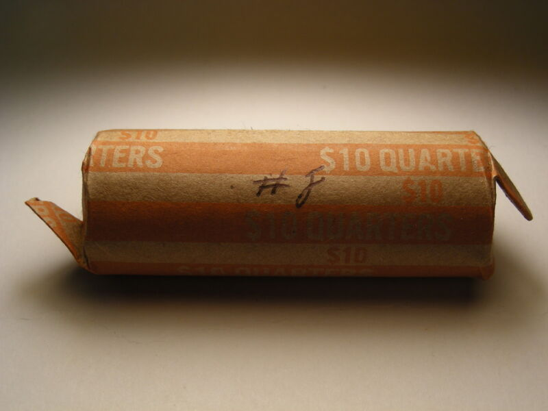 1943-P WASHINGTON SILVER QUARTERS CIRCULATED ROLL (40 COINS) #8
