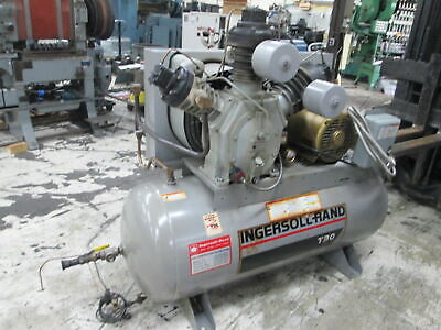 Ingersoll Rand 15t Two Stage Pump 15hp 230460v 72 Cfm Horizontal Air Compressor