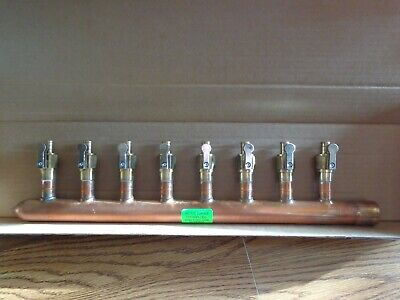 8 Port 12 Pex Manifold With Valves By Sioux Chief 672xv0810l Sweat L