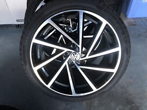 "18"" Golf R Spielberg rims with brand new tires."