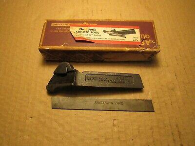 Atlas 10 12 Lathe No.6665 R Cut-off-tool Holder With Hss Cutting Bit South Bend
