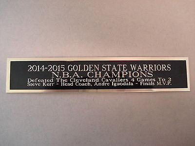 2014-15 Golden Sate Warriors Nameplate for a Basketball Case Photo 1.5 X 8