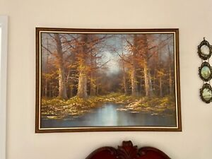 Painting of a forest scene