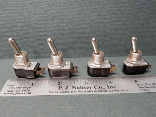 Carling Toggle Switches (4) 110-73 Solder Terminals SPST NOS