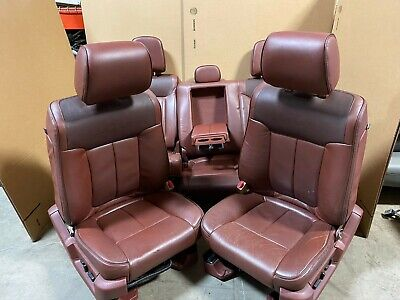 2013 FORD F-150 F150 KING RANCH FRONT LEATHER BUCKET SEATS W/ REARS