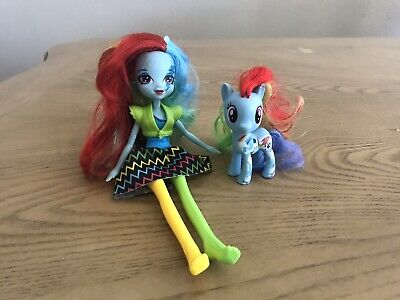 My Little Pony Equestria Girl Rainbow Dash Rocks Doll Pony Figure Set Of 2