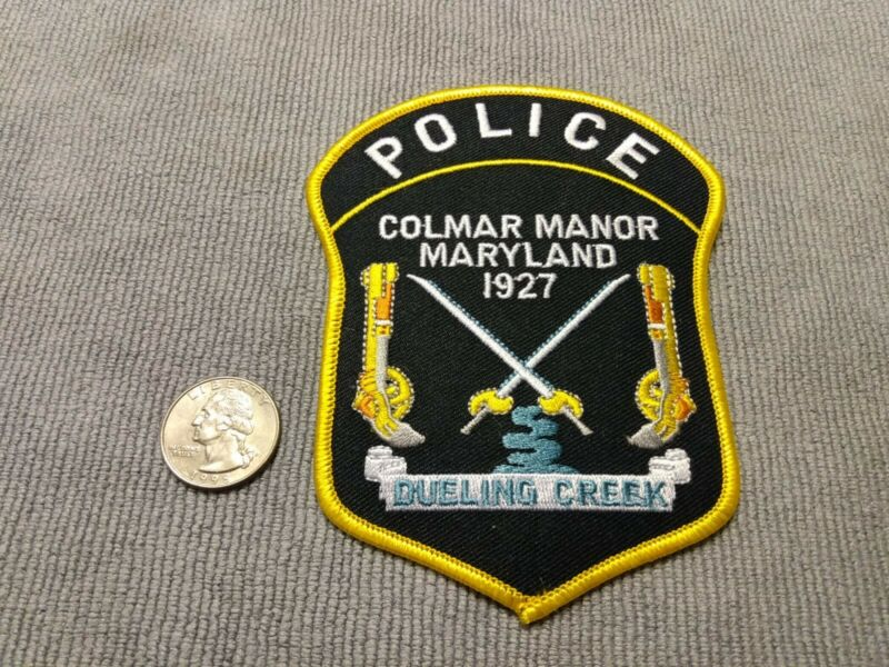 Colmar Manor Maryland Police patch Prince George