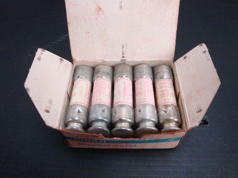Ferraz Shawmut - (BOX of 10) TR1R Time Delay Fuses 1 Amp, 250 Volts (NEW)