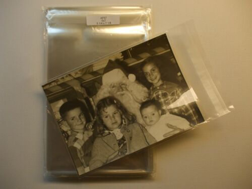 100 Clear Cello Treat Bag Sleeve Envelope for 5x7 Photos 5 1/4 x 7 1/8 AF57