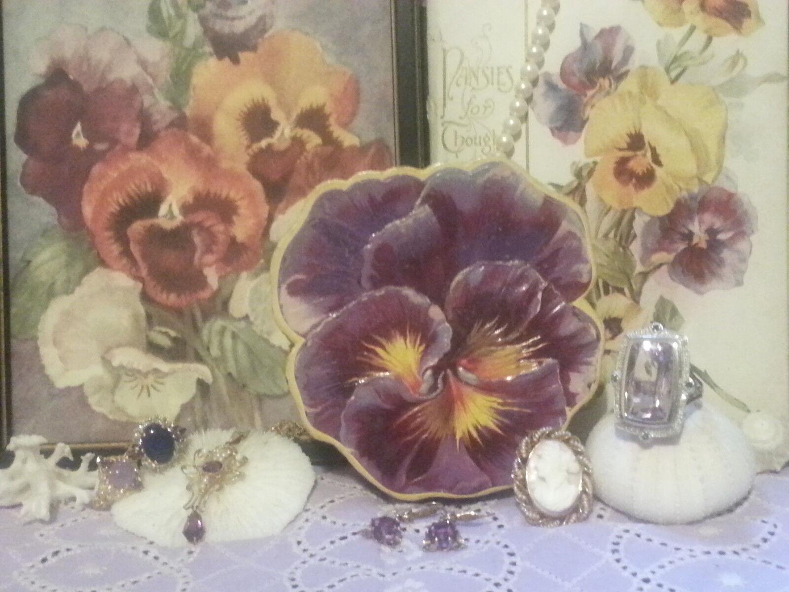 The Pretty Pansy Jewelry Box Plus