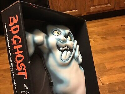 Vintage 3d Ghost Light Markee Halloween Computerized Lighting Effects Blow Mold