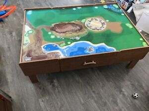 Table de train en bois