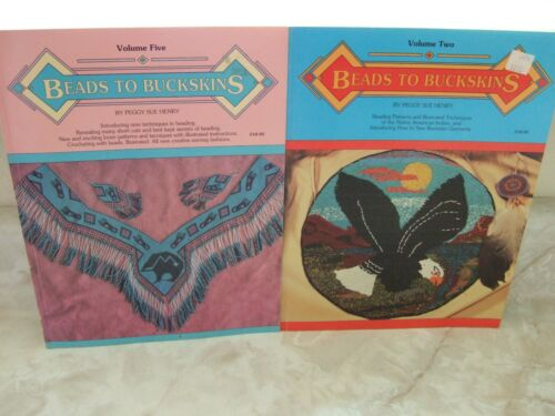 2 BEADS TO BUCKSKINS Beading Patterns Illustrated Techniques & More Vol 2 & 5