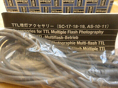 Nikon SC-19 Multy Flash Cord for TTL Flash MINT in the box - Free Shipping  Nikon Ttl Cord