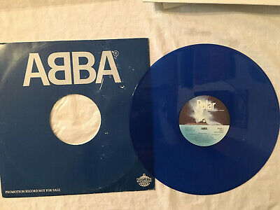 "ABBA Voulez-Vous Does Your Mother Know clear BLUE vinyl 12"" record Polar promo"