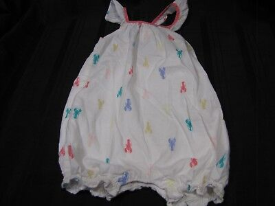 BABY GAP Lobster Bow Back Romper Outfit 3-6 Months Spring Summer Bubble - Baby Lobster Outfit