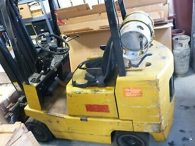 Yale 5000 Lb Lpg Forklift - Triple Mast Side Shifter Fully Serviced Connecticut