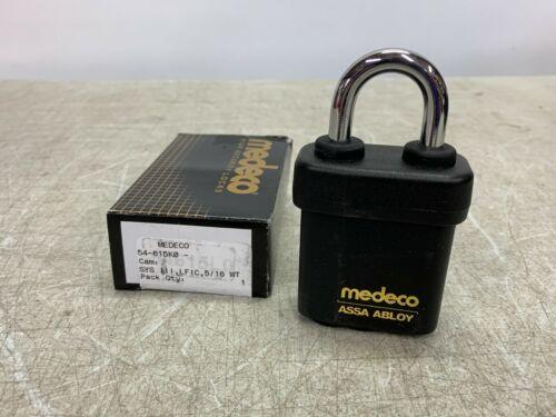 """MEDECO Padlock 54 Serie Weather Guard 5/16"""" x 1-1/8 Shackle No Cylinder 54-615K0"""