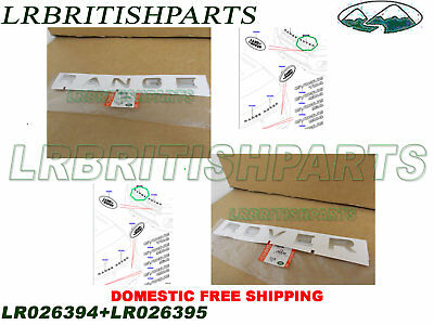GENUINE LAND ROVER FRONT HOOD NAME PLATE
