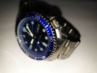 Mens Seiko divers watch 6309 7200 200mtr very rare blue dial