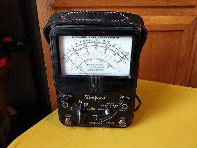 Simpson 303 Vacuum Tube Multimeter VTVM Voltmeter Ammeter Ohmmeter *WORKING*
