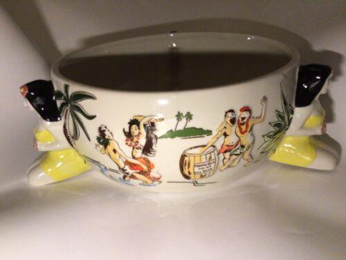 Trader Vic's Tiki Scorpion Bowl Hula Girl 60 oz Planter Succulents Candy Dish