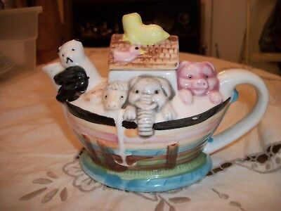Noah's Ark Teapot -  Single Cup Size - Good Condition