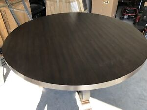 Rustic Round Wood Table - NEW