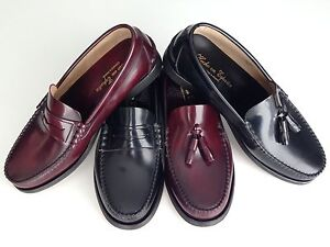 Mens Shoes Spanish Leather Penny Loafers Size UK 5 6 7 8 9 10 11 ...