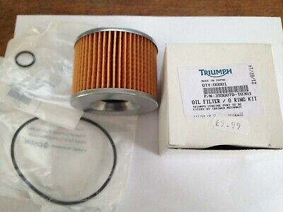 GENUINE TRIUMPH MOTORCYCLE OIL FILTER 3990070 T0301